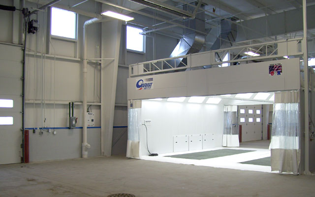 Garmat Closed Top Open Front paint spray booth